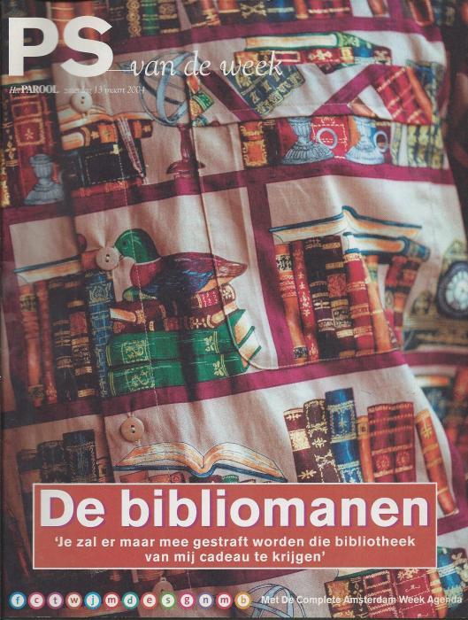 Vooromslag van 'De Bibliomanen'(bijlage Het Parool, 13 maart 2004)
