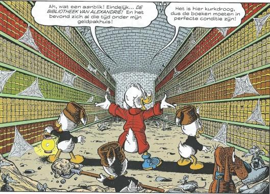 Uit de strip: De reisavonturen van oom Dagbobert: de verdwenen bibliotheek van Alexandrië
