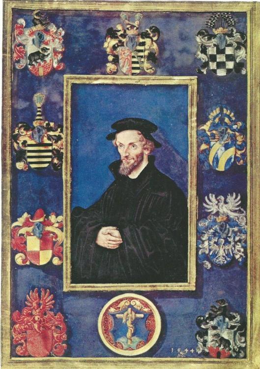 'Uir de nalatenschap van de Amsterdamse anriquaar H.F.Geerts ingebrachte 'Biblia Germanica' (wittenberg, 1541) met geschilderd portret van Philip Melanchton door Lucas Vranach de Jongere. Op 9 oktober 1979 bij A.L.van Gendt & Co. geveild voor een kwart miljoen gulden door Nico Israel gekocht, toen de hoogste prijs die ooit in Nederland op een veiling voor een boek betaald is' (P.J.Buijnsters)