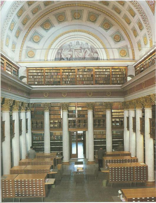 Interieur Universiteitsbibliotheek Helsinki