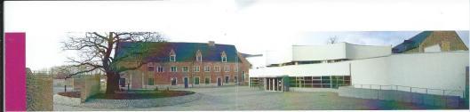 Campusbibliotheek Arenberg ub Leuven, ten dele in vm. Coelestinenklooster en nieuwbouw gevestigd.