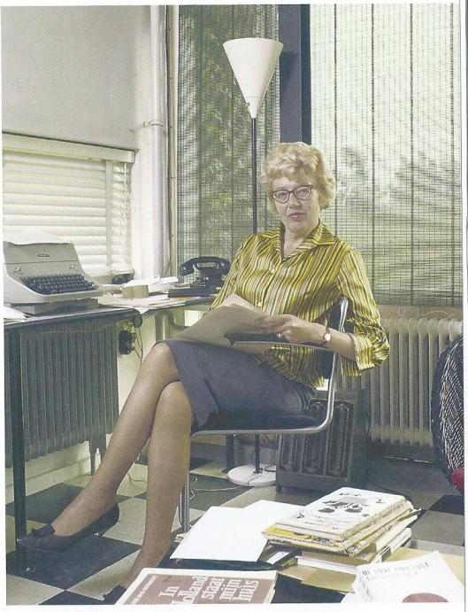Annie M.G.Schmidt in de bloei van haar leven. Foto uit 1963
