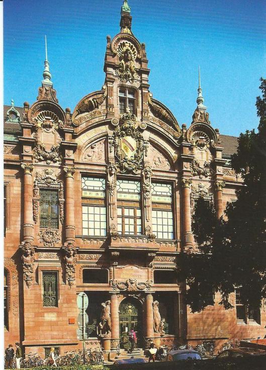 Entree van de universiteitsbibliotheek Heidelberg