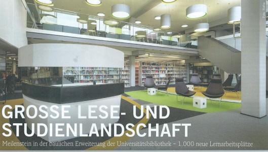 Uitbreiding nieuwbouw ub Heidelberg, 2015, met 1.000 'Lernabseitsplätze'.