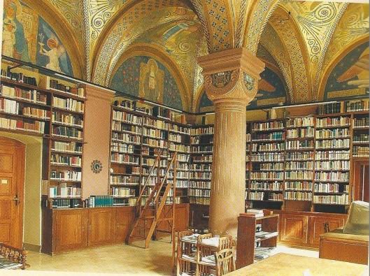 Bibliotheek gewijd aan Sint Hildegard van Bingen in Rüdesheim aan de Rijn.