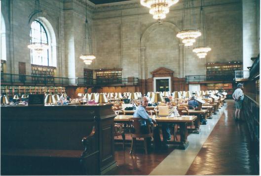 Hans Krol in de New York Public Library, 2005