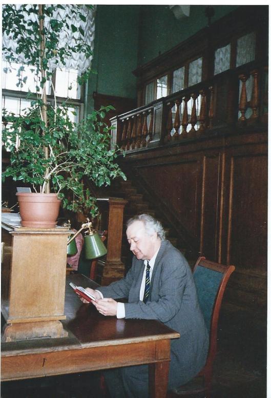 Sjoerd Koopman in de Russische Staatsbibliotheek Moskou, april 2006