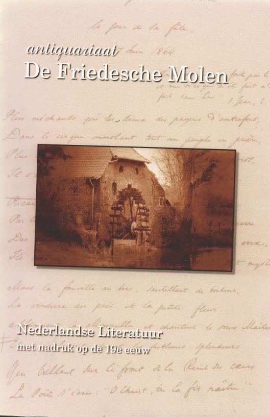 Vooromslag katalogus 20 van antiquariaat De Friedesche Molen: Nederlandse Literatuur met nadruk op de 19e eeuw.