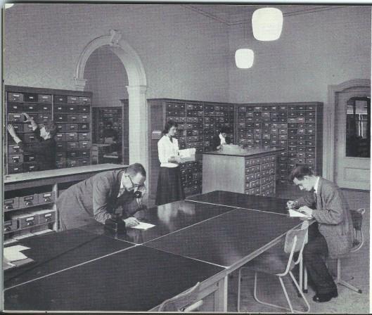 Centrale Catalogus in gebouw Lange Voorhout van de KB.