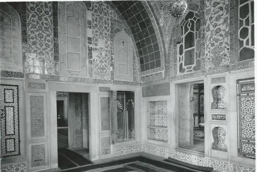 Interieur van bibliotheek Ahmed 1, Istanbul