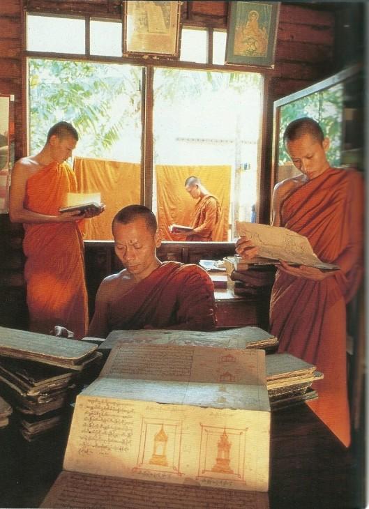 Bibliotheek van Boeddhistische geschriften bij de tempel van Vat-Tientaway, nabij Bangkok, Thailand