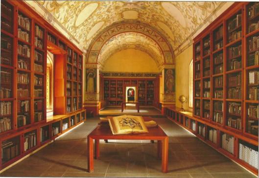 De kloosterbibliotheek Francisco de Burgoa in Oaxaca, Mexico