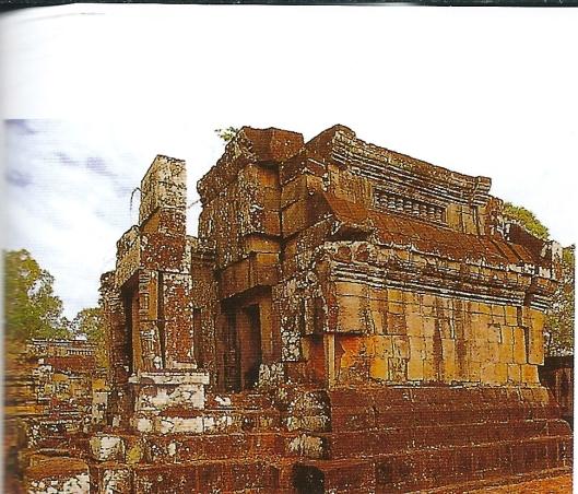 De S-bibliotheek in Ankor Vat, Cambodja