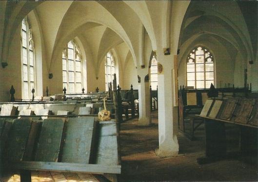Interieur van laatmiddeleeuwse Librarije te Zutphen