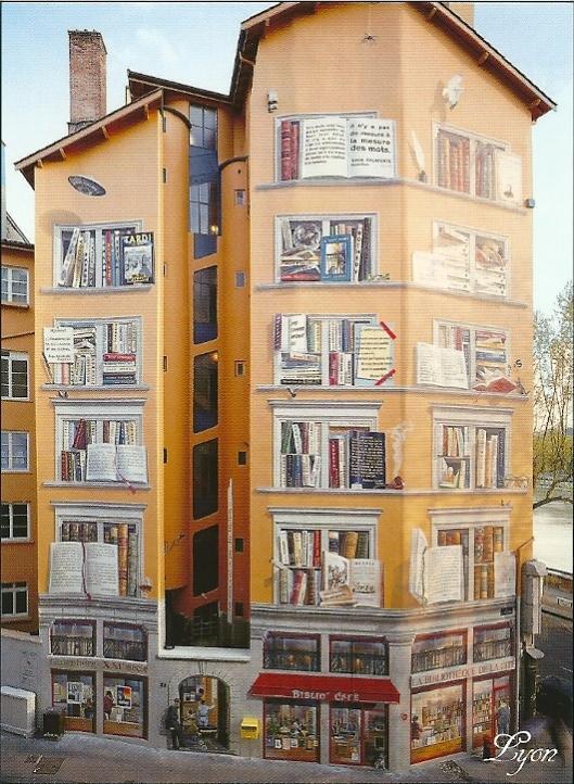 'Bibliothèque de la Cité': muurschildering in Lyon, Frankrijk