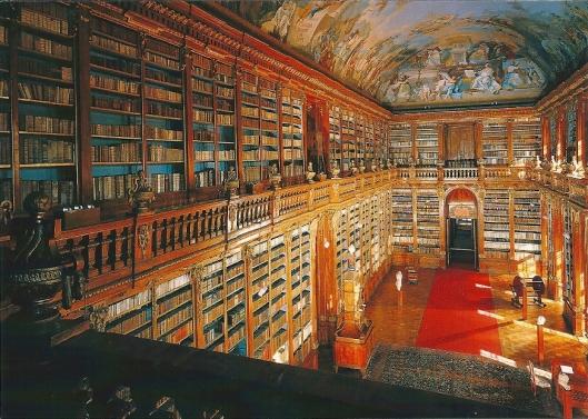 Filosofische zaal in Strahov, Praag, Tsjechië