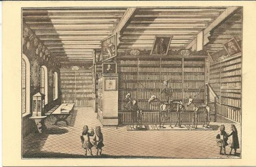 18 eeuwse bibliotheek in het College van Altdorf, Duitsland