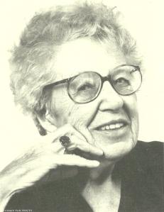 Foto Chris van Houts. Annie M.G.Schmidt op latere leeftijd.