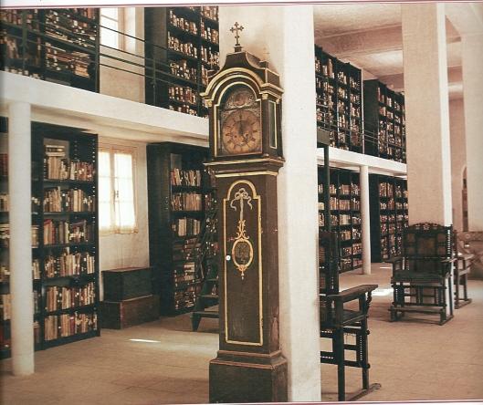 Interieur bibliotheek Catharina klooster in Sinaï, Egypte