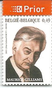 Een in 2003 door de Belgische Posterijen geëmiteerde postzegel gewijd aan Maurice Gilliams