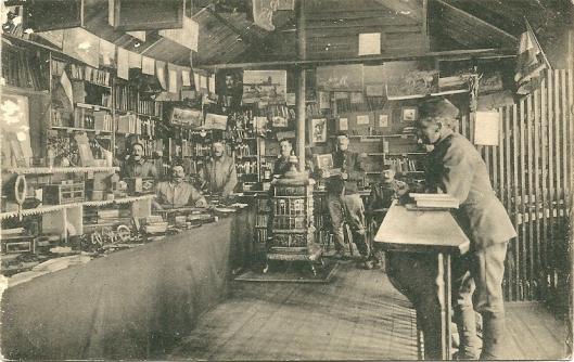 Bibliotheek van interneringskamp Zeist tijdens 1e Wereldoorlog