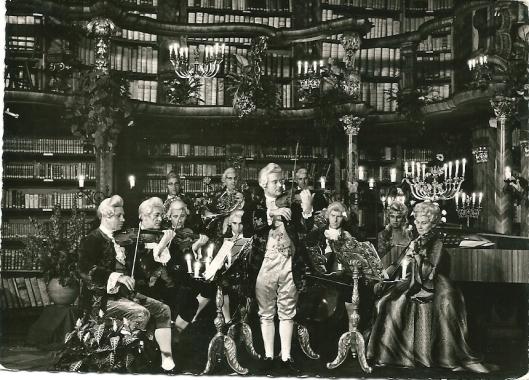 Barokoncert in de barokke bibliotheek van Neuburg a.d.Donau