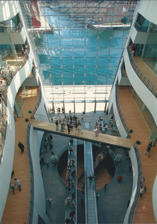 Interior picture of the National Library [ called 'Black Diamond'] in Copenhagen, Denmark