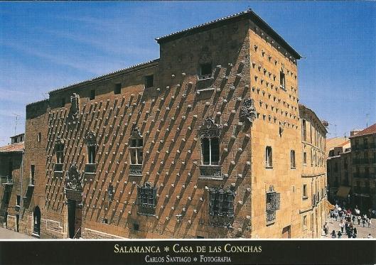 Openbare Bibliotheek van Salamanca, gehuisvest in het historische Huis van de Schelpen