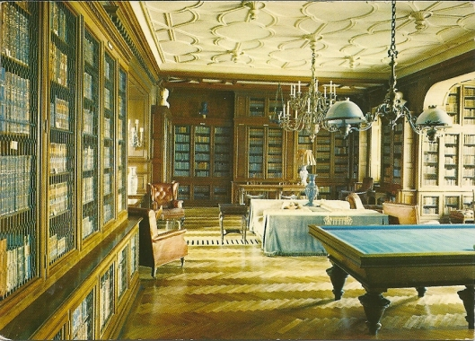 Kasteel- en museumbibliotheek Lancut in Polen