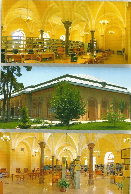 Exterior and interor views of the Parliament's Library (Building No.2, Iranology Section, Baharestan, Tehran, Iran