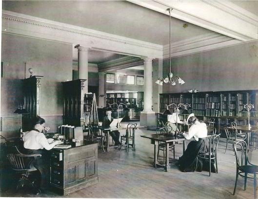 Carnegie library of Homestead, Munhall, Pennsylvania. Circa 1900