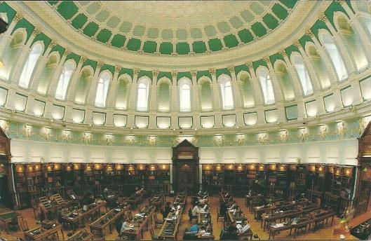 Koepelleeszaal Nationale Bibliotheek van Ierland in Dublin
