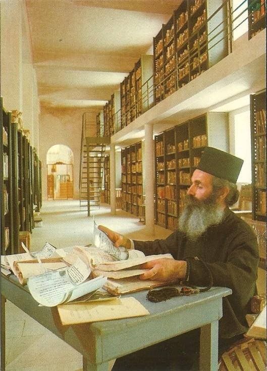 Kloosterbibliotheek St. Catharina in de Sinaï, Egypte