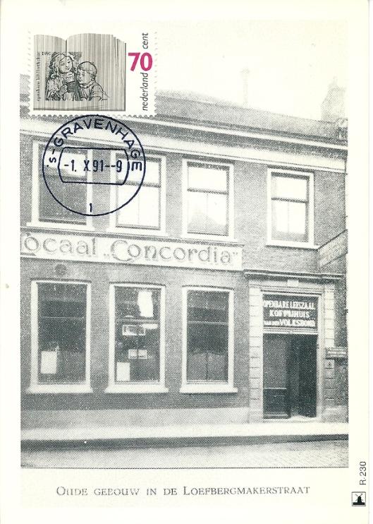 De eerste moderne openbare (volks)leeszaal van Nederland in 1892 opgericht, in gebouw Concordia te Utrecht. Hier vond nog een uitleen plaats. Ter herdenking verscheen in 1992 een postzegel