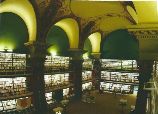 Nog een afbeelding van het interieur der Bibliotheca Augusta in Wolfenbüttel