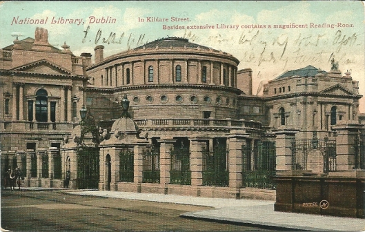 Kaart uit begin 1900 van de Nationale Bibliotheek van Ierland in Dublin