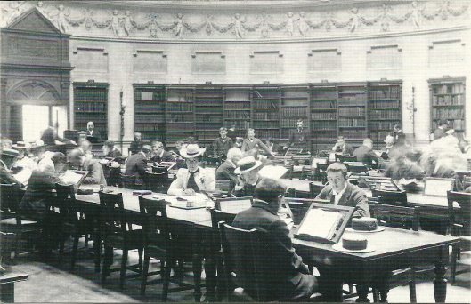 Reading Room of the National Library of Ireland, circa 1900