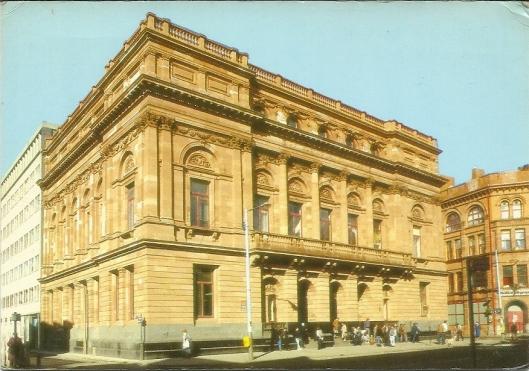 Belfast Central Library, Northern Ireland. Prentbriefkaart uit 1988 toen de bibliotheek een eeuw bestond.
