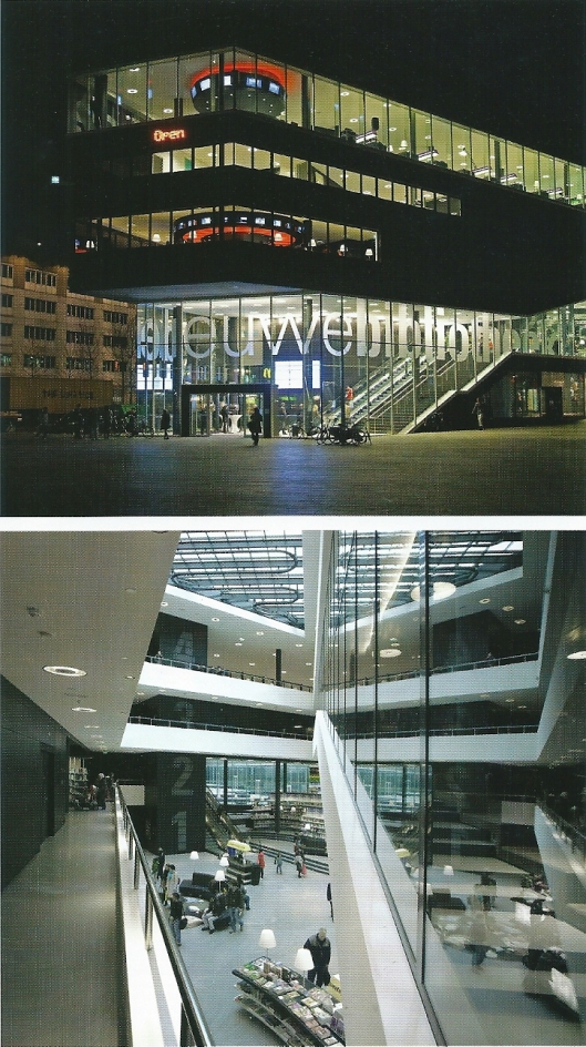 De tussen 2005 en 2009 gebouwde openbare bibliotheek van Almere, Ontworpen dooor Neyer en Van Schooten Architecten, Amsterdam, Barry van Waveren.