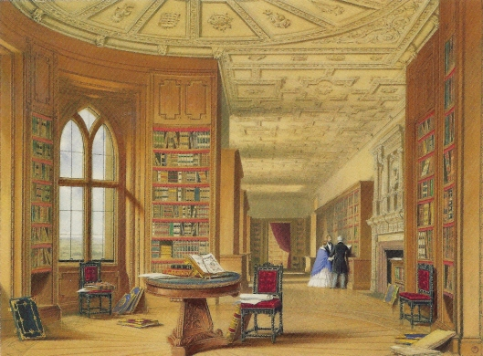 The Library, Windsor Castle, 1838