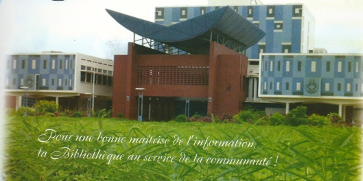Centrale bibliotheek van Universiteit Cheikh Anta Diop, Dakar, Senegal