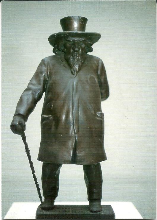 Beeldje van de dichter Emanuel Hiel door Jef van Hamme (1902) [foto AMVC]