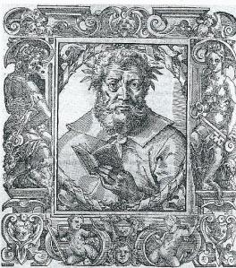 Callimachus. Gravure door P.Giovio. Uit: Elogia vivorum litteris illustrium. Bazel, 1577