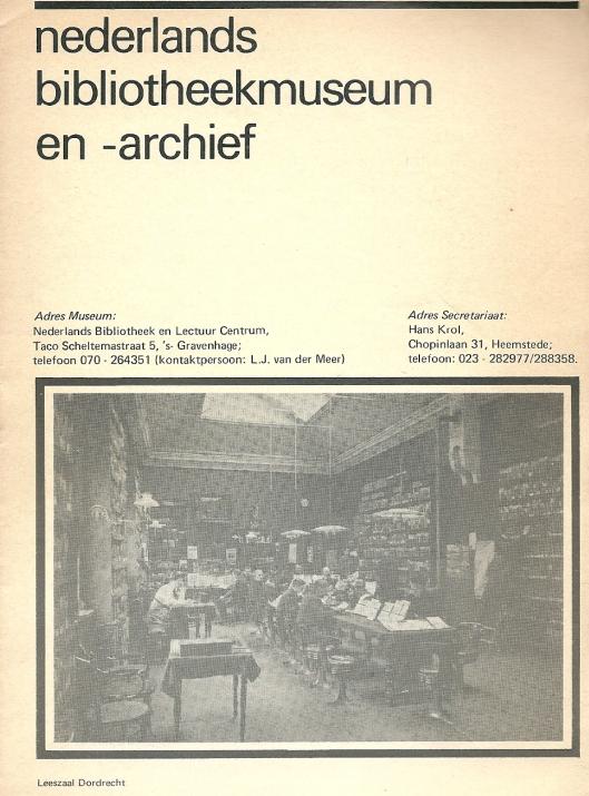 Eerste folder Bibliotheekmuseum uit 1976