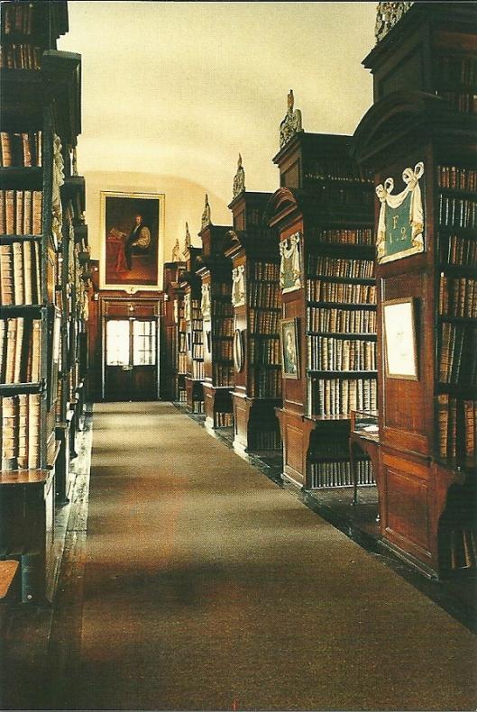 Marsh's Library op een ansichtkaart