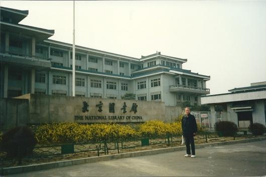 Hans Krol voor de Nationale Bibliotheek van China in Beijing