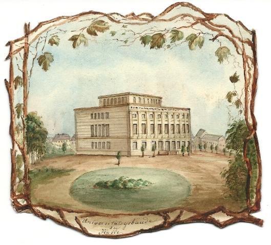Steendruk van universiteitsbibliotheek Halle