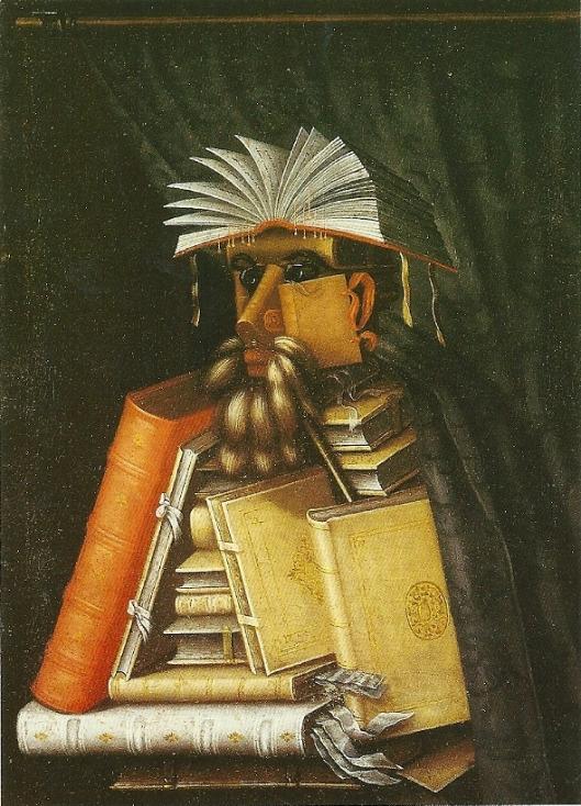 Guiseppe Arcimboldo: de bibliothecaris, 1566
