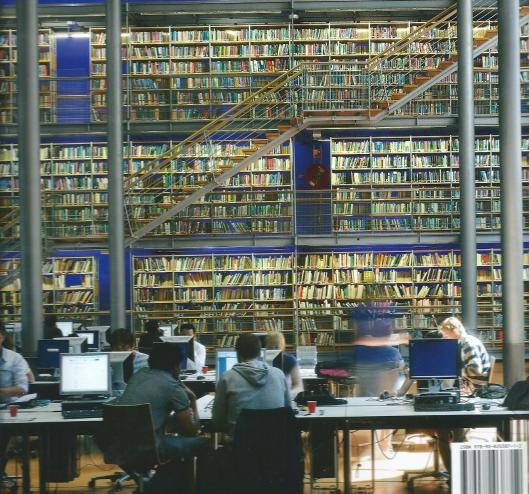 Interieur Universiteitsbibliotheek Delft (ontwerp Mecanoo)