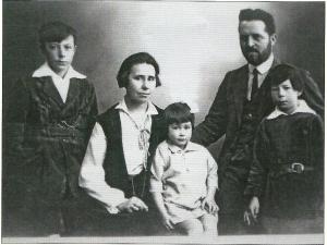 Het gezin Thiry, eind jaren twintig vorige eeuw in Tiel